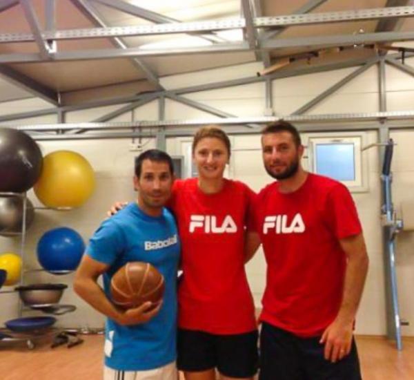 Articol Irina Begu Gabi Moraru si preparatorul fizic Daniel Tudorache